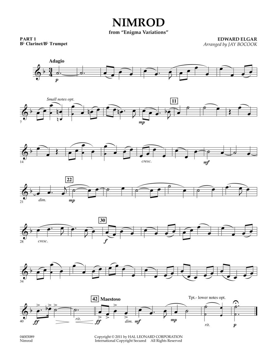 Nimrod (from Enigma Variations) - Pt.1 - Bb Clarinet/Bb Trumpet