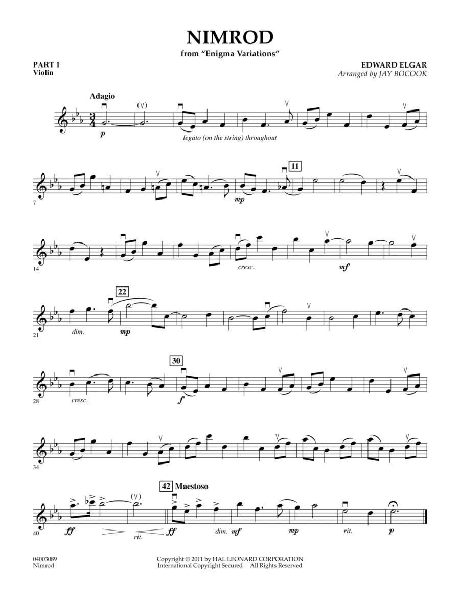 Nimrod (from Enigma Variations) - Pt.1 - Violin
