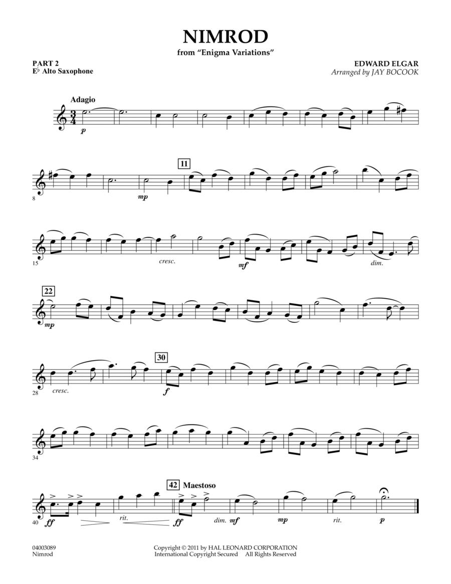 Nimrod (from Enigma Variations) - Pt.2 - Eb Alto Saxophone