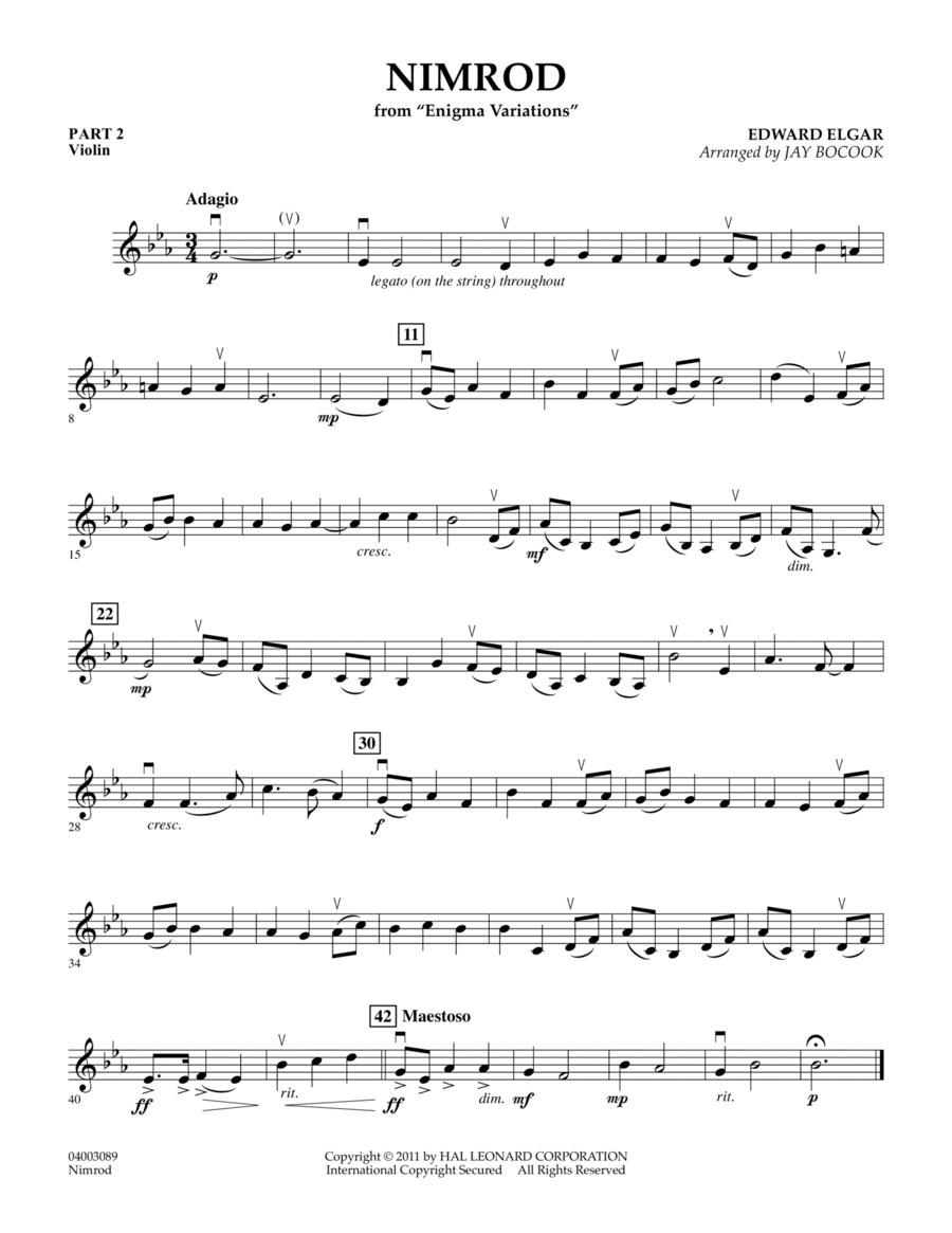Nimrod (from Enigma Variations) - Pt.2 - Violin