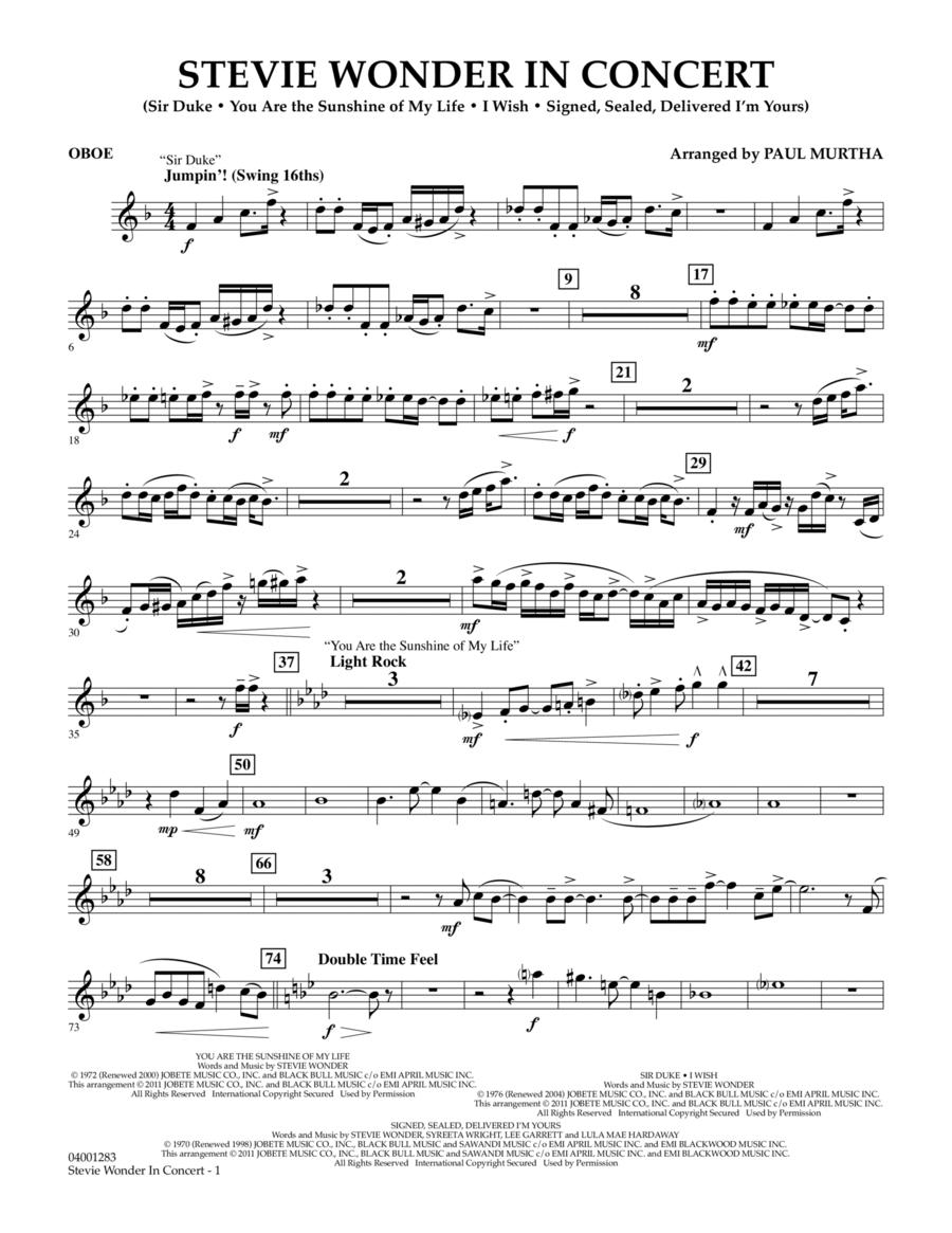 Stevie Wonder In Concert - Oboe