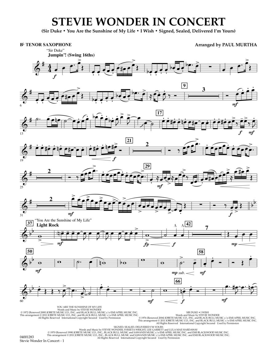 Stevie Wonder In Concert - Bb Tenor Saxophone