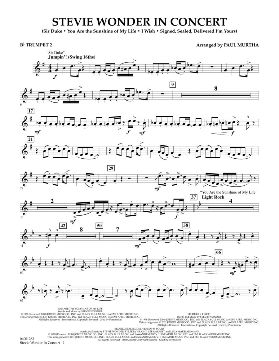 Stevie Wonder In Concert - Bb Trumpet 2