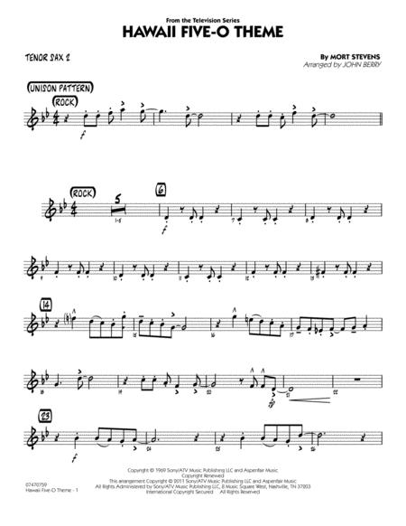 Hawaii Five-O Theme - Tenor Sax 2
