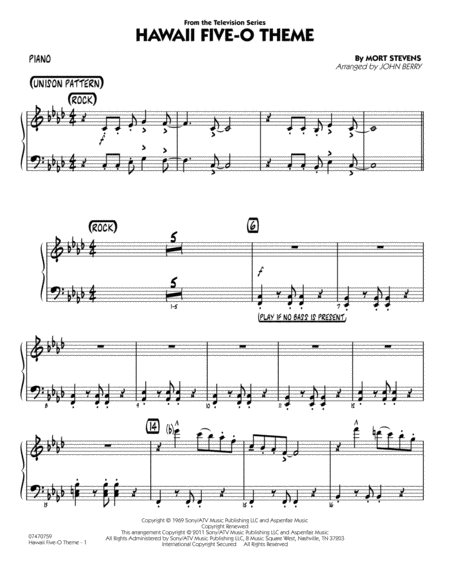 Hawaii Five-O Theme - Piano