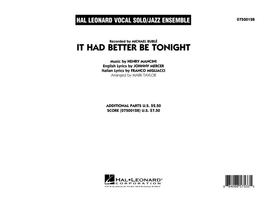 It Had Better Be Tonight - Conductor Score (Full Score)