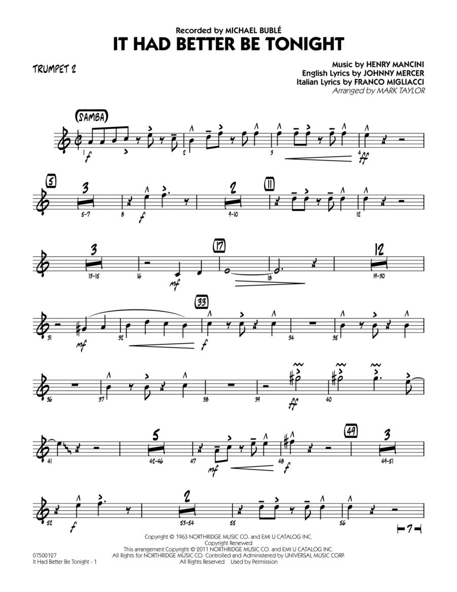It Had Better Be Tonight - Trumpet 2