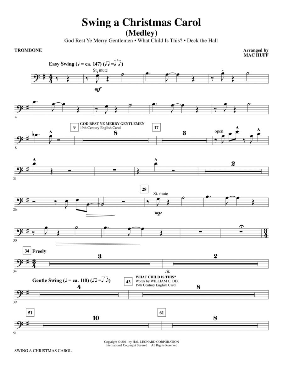 Swing A Christmas Carol (Medley) - Trombone