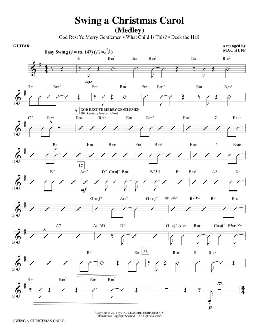 Swing A Christmas Carol (Medley) - Guitar
