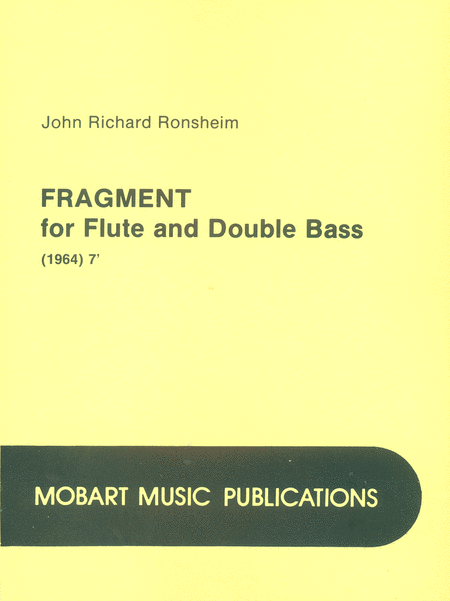 Fragment for Flute and Double Bass