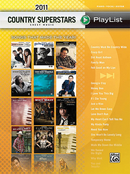 2011 Country Superstars Sheet Music Playlist