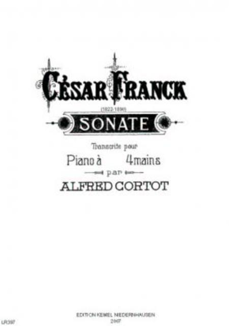 Sonate [La majeur] : pour piano a 4 mains