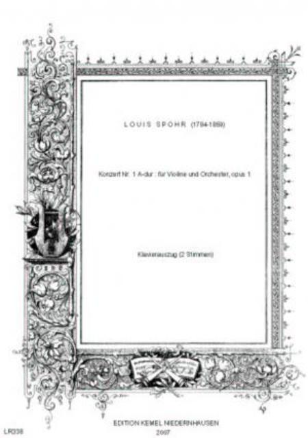 Konzert Nr. 1 A-dur : fur Violine und Orchester, opus 1 (Klavierauszug)