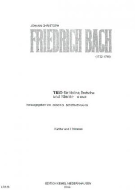 Trio G dur : fur Violine, Bratsche und Klavier
