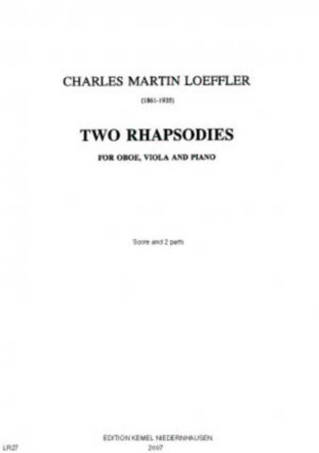 Two rhapsodies : for oboe, viola and piano