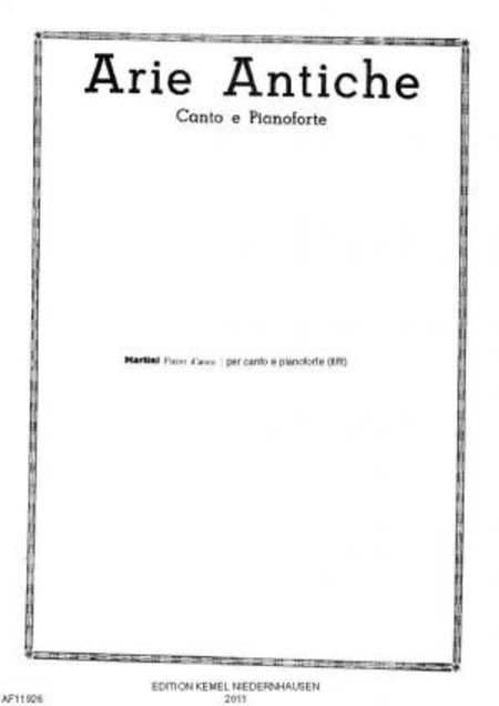 Plaisir d'amour : canto e pianoforte