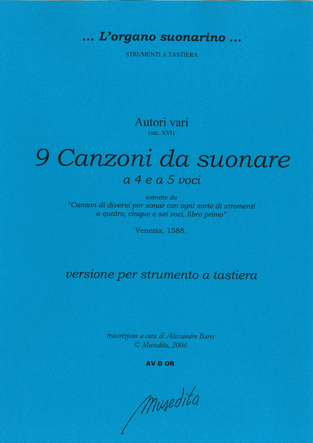 9 Canzoni a 4 e 5 voci (from