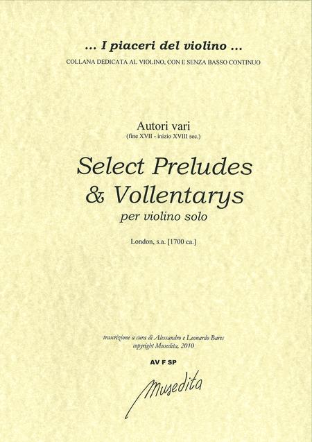 Select Preludes or Volentarys (London, senza anno)