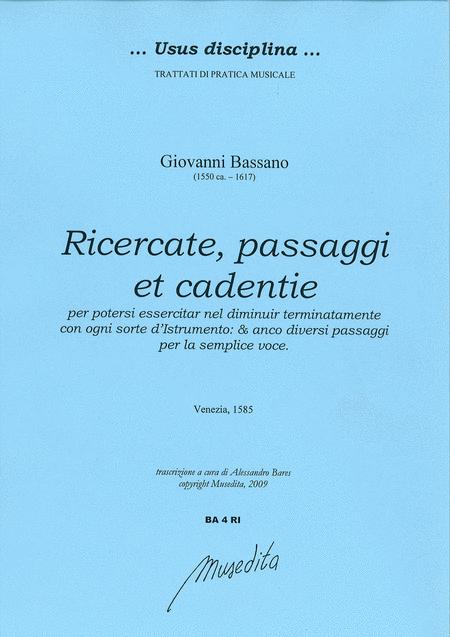 Ricercate, passaggi et cadentie (Venezia, 1585)