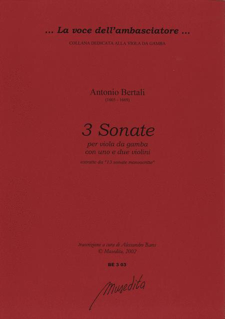 3 Sonate per viola da gamba e 1 o 2 violini (Manuscript, S-Uu)
