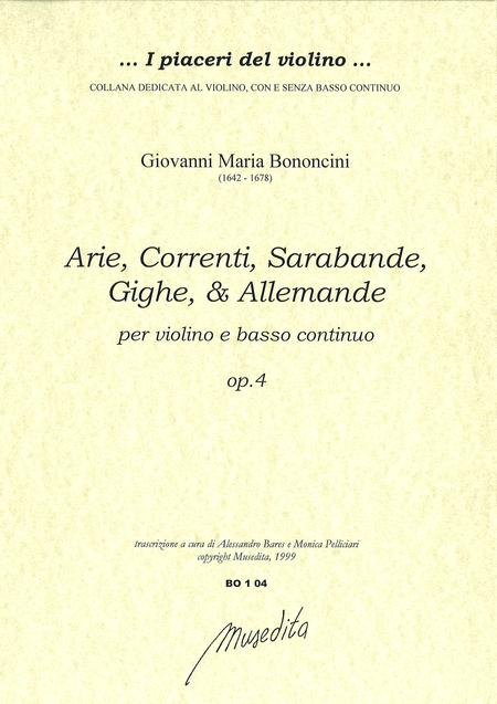Arie, correnti, sarabande, op. 4 (Bologna, 1671)