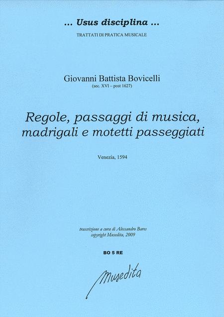 Regole, passaggi di musica, madrigali e motetti passeggiati (Venezia, 1594)