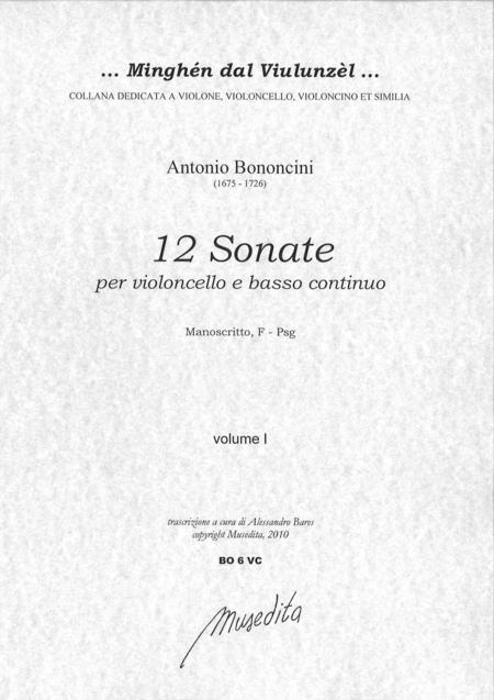 12 Cello Sonatas (Manuscript, F-Psg)
