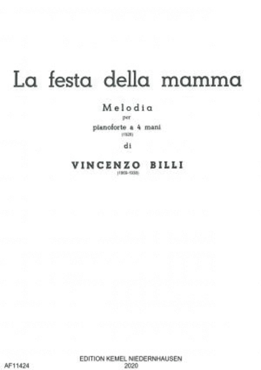 La festa della mamma : melodia : pianoforte a 4 mani