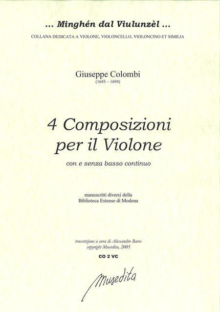 4 Composizioni per il violone (Manuscript, I-Moe)