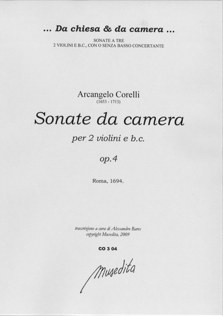 Sonate a tre op. 4 (Roma, 1694)