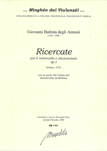 Ricercate op. 1 (Bologna, 1687)