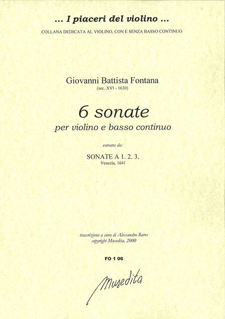 6 Violin Sonatas (Venezia, 1641)