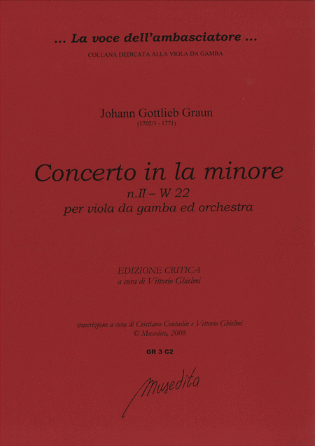 Concerto [No. 2] in a minor W 22 (Manuscript, D-DS)