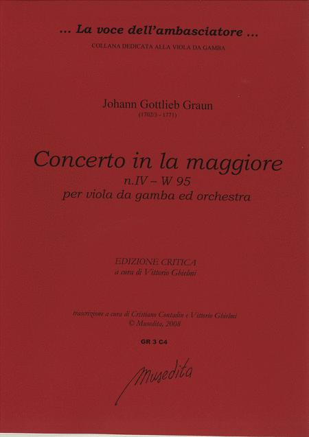 Concerto [No. 4] in A Major W 95 (Manuscript, D-DS)