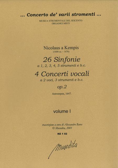 Symphoniae op. 2 (Antwerpen, 1647)
