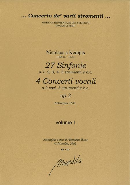 Symphoniae op. 3 (Antwerpen, 1649)