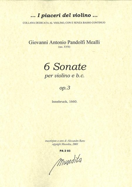 Violin Sonatas op. 3 (Innsbruck, 1660)