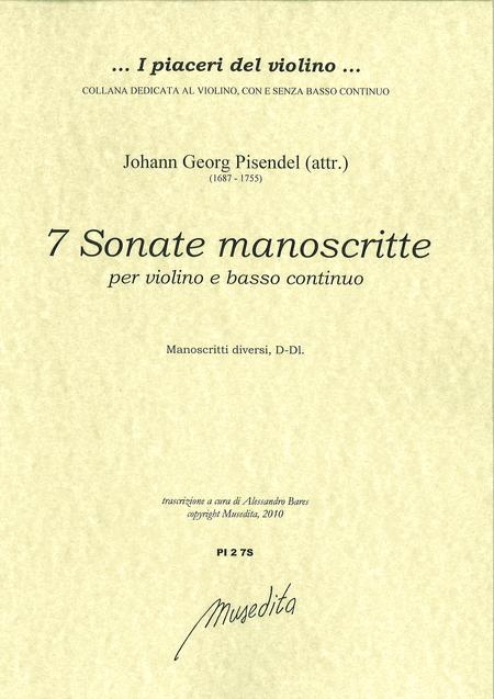 7 Violin Sonatas (Manuscript, D-Dl)