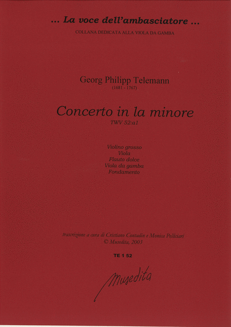 Concerto in a minor TWV 52:A1 (Manuscript, D-DS)