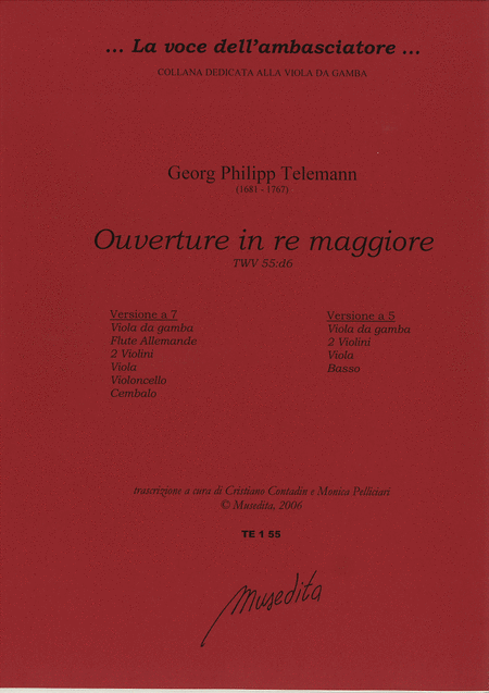 Ouverture in D Major TWV 55:D6 (Manuscript, D-B, D-DS)