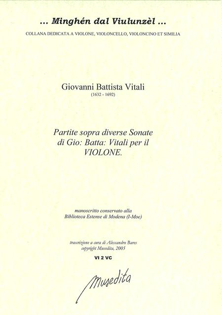 Partite sopra diverse sonate per il violone (Manuscript, I-MOe)