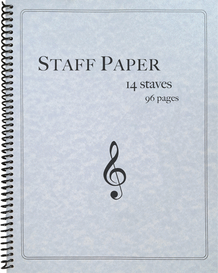 Staff Paper Music Notebook, 96 Pages