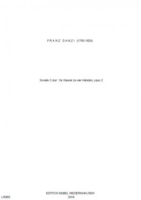 Sonate C-dur : fur Klavier zu vier Handen, opus 2