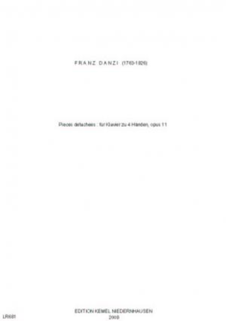 Pieces detachees : fur Klavier zu 4 Handen, opus 11
