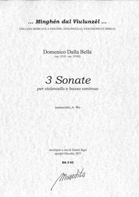 3 Cello Sonatas (Manuscript, A-Wn)