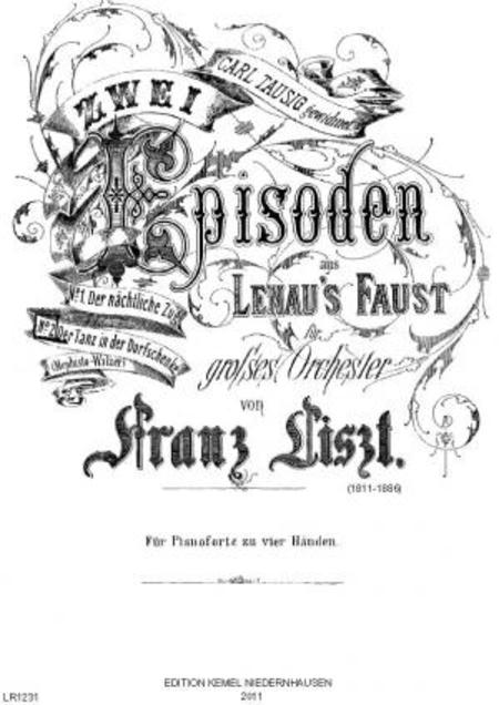 Zwei Episoden aus Lenau's Faust : fur Pianoforte zu vier Handen : 2, Der Tanz in der Dorfschenke