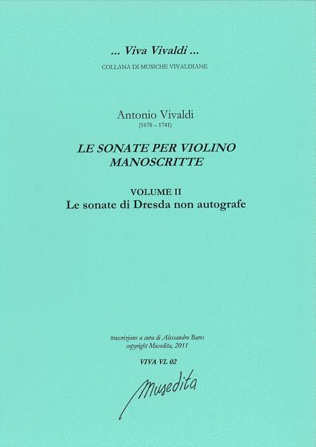 Manuscript violin sonatas (vol.II: Dresden Sonatas)