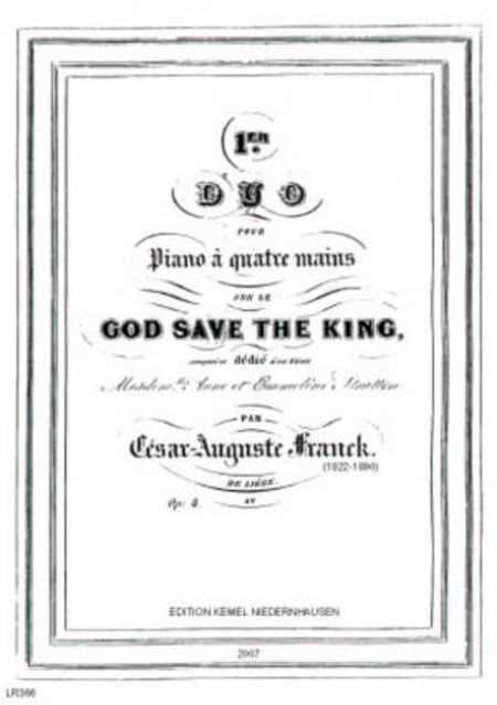 Premier duo sur le God save the King : pour piano a quatre mains, op. 4