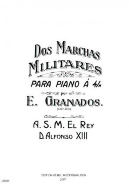 Dos marchas militares : para piano a 4/m
