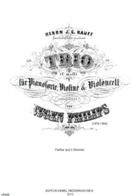Trio c moll : fur Pianoforte, Violine & Violoncell, op. 20